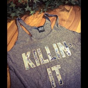 Tops - Killin It Racerback Tank Top
